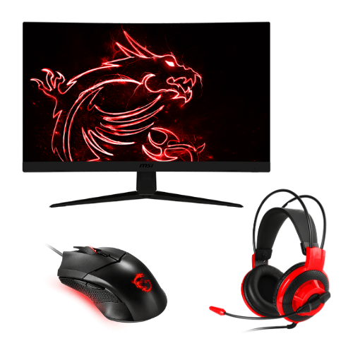 "[INN04224] Monitor MSI Gaming 27"" LCD Curved Optix G27C5 + Mouse Gaming GM08 + Headset DS51"