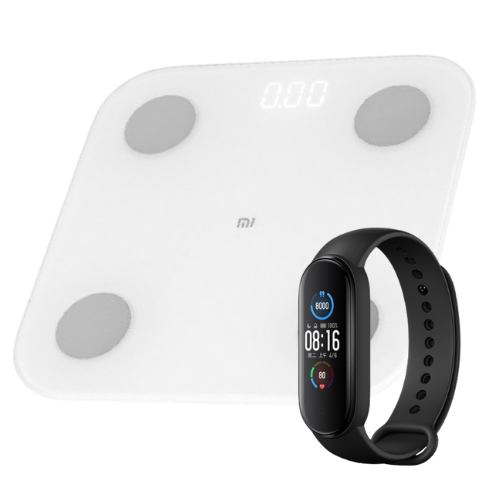 [INN04460] Combo Báscula Xiaomi Mi Body Composition Scale 2 + Smartwatch Xiaomi Mi Smart Band 5 Negro